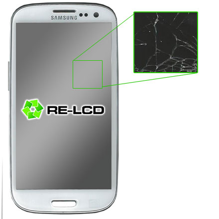 Galaxy S3 - Cracked Screen, Good LCD
